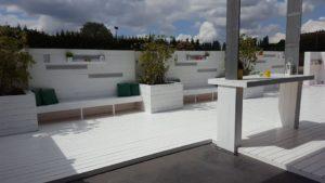 Salle de réunion à Bruxelles proposant une grande terrasse ouverte
