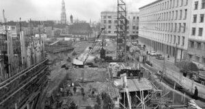 Construction du palais des congrès, SQUARE